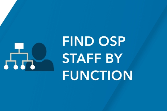 Find OSP Staff by Function