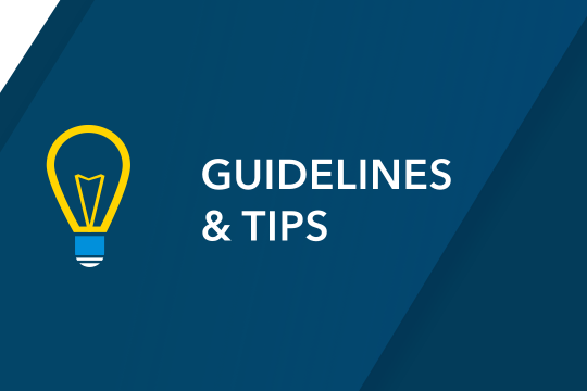 Guidelines & Tips