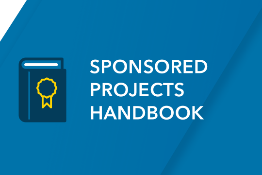 Download the Sponsored Projects Handbook
